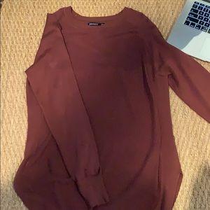plain maroon women's sweater